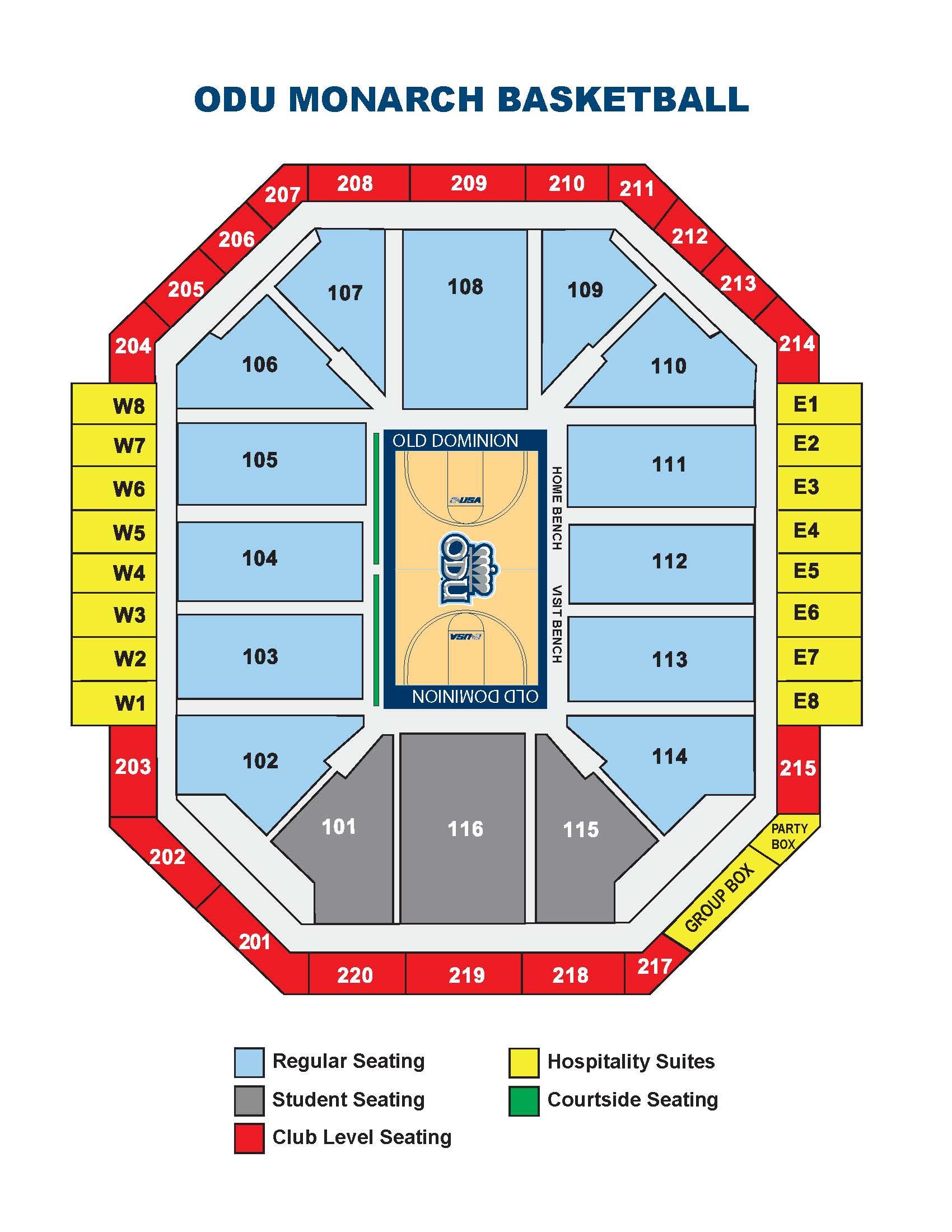 ODU Basketball Seating