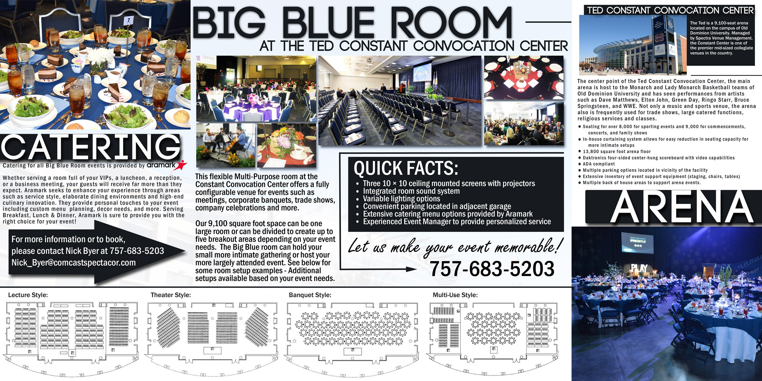 Ted Constant Convocation Center Big Blue Room
